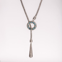 Reversible Silver and Blue Topaz Necklace