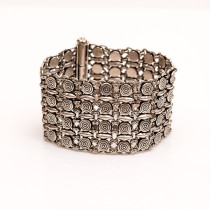 Ornate Sterling Silver Bracelet