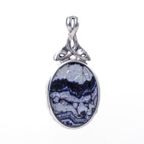 Double Sided Pendant Blue John & Jet